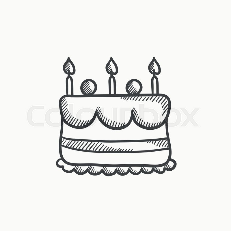birthday cake for drawing ; drawn-dessert-icon-12