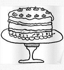 birthday cake for drawing ; poster%252C210x230%252Cf8f8f8-pad%252C210x230%252Cf8f8f8