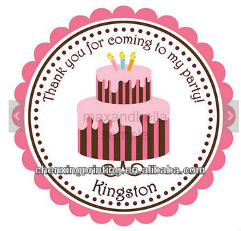 birthday cake labels ; Personalized-Stickers-Stripped-Birthday-Cake-Labels-for