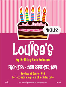 birthday cake labels ; label2a