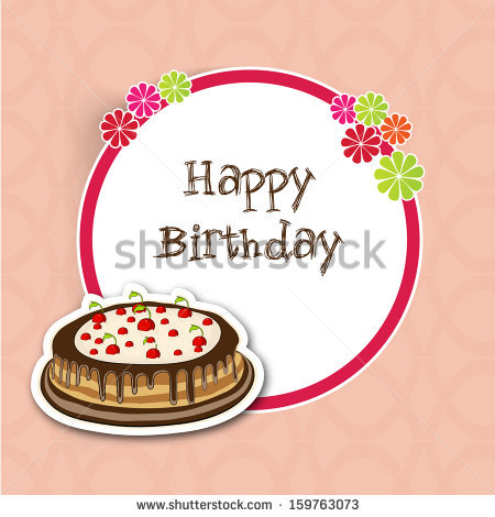 birthday cake labels ; stock-vector-birthday-cake-with-tag-sticker-or-label-on-vintage-background-159763073