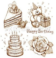 birthday cake pencil drawing ; 19fc9cad2853fe4628df3a982e67296a--drawing-with-pencil-pencil-drawings