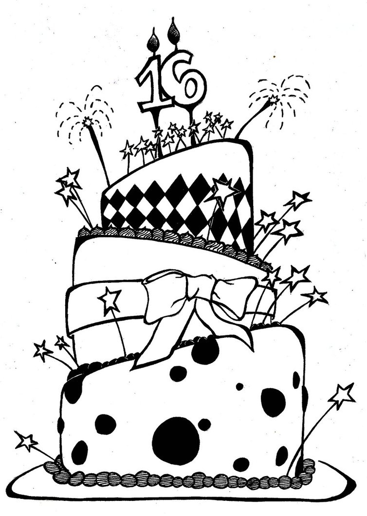 birthday cake pencil drawing ; birthday-cake-drawing-10