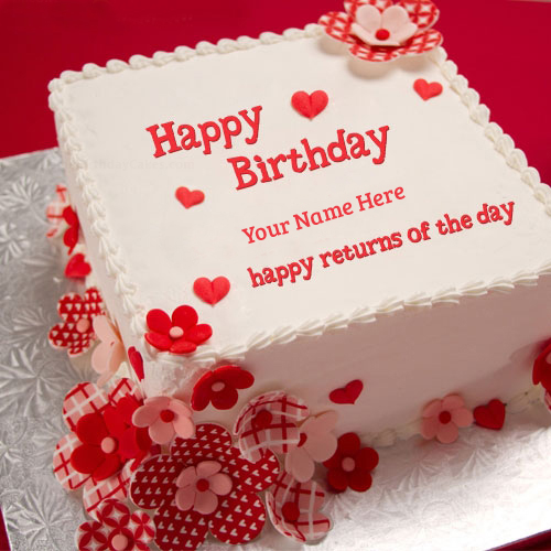 birthday cake pic with name and photo ; Happy-Returns-of-the-day-Birthday-cake