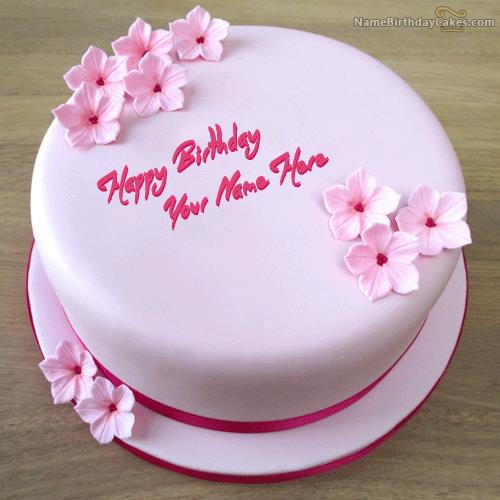 birthday cake pic with name and photo ; pink-birthday-cake_name_pictures_48e99d06
