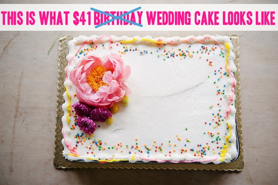 birthday cake sheet cake ; 1437763526-grocery-store-wedding-cake-61
