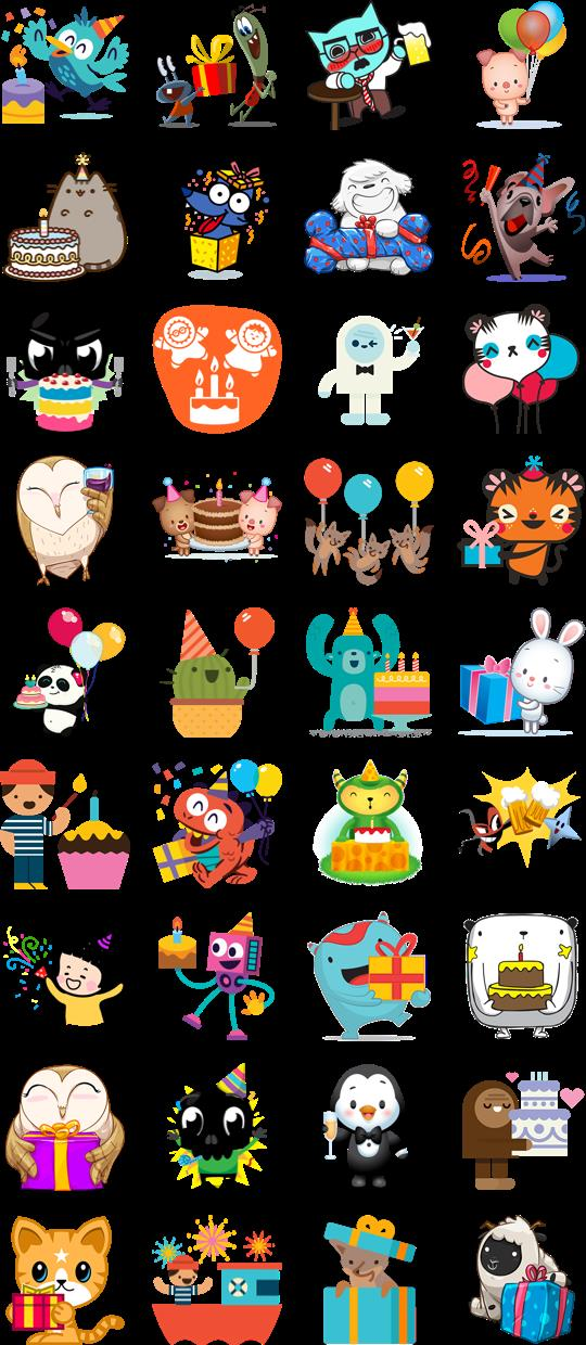 birthday cake stickers for facebook ; Happy-Birthday