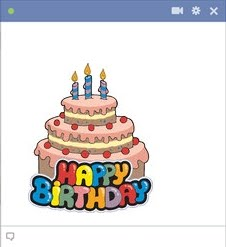 birthday cake stickers for facebook ; emoticon-of-birthday-cake