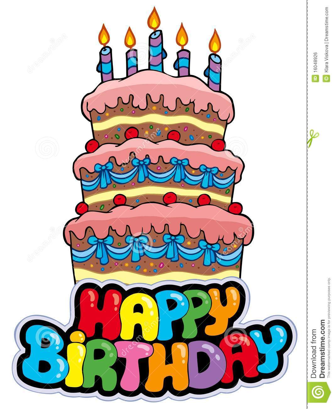 birthday cake stickers for facebook ; happy-birthday-sign-tall-cake-16048926