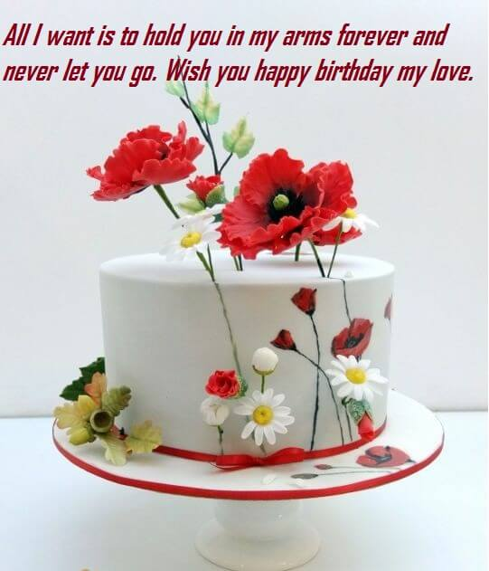 birthday cake with message picture ; Happy-Birthday-Cake-Message-For-Love