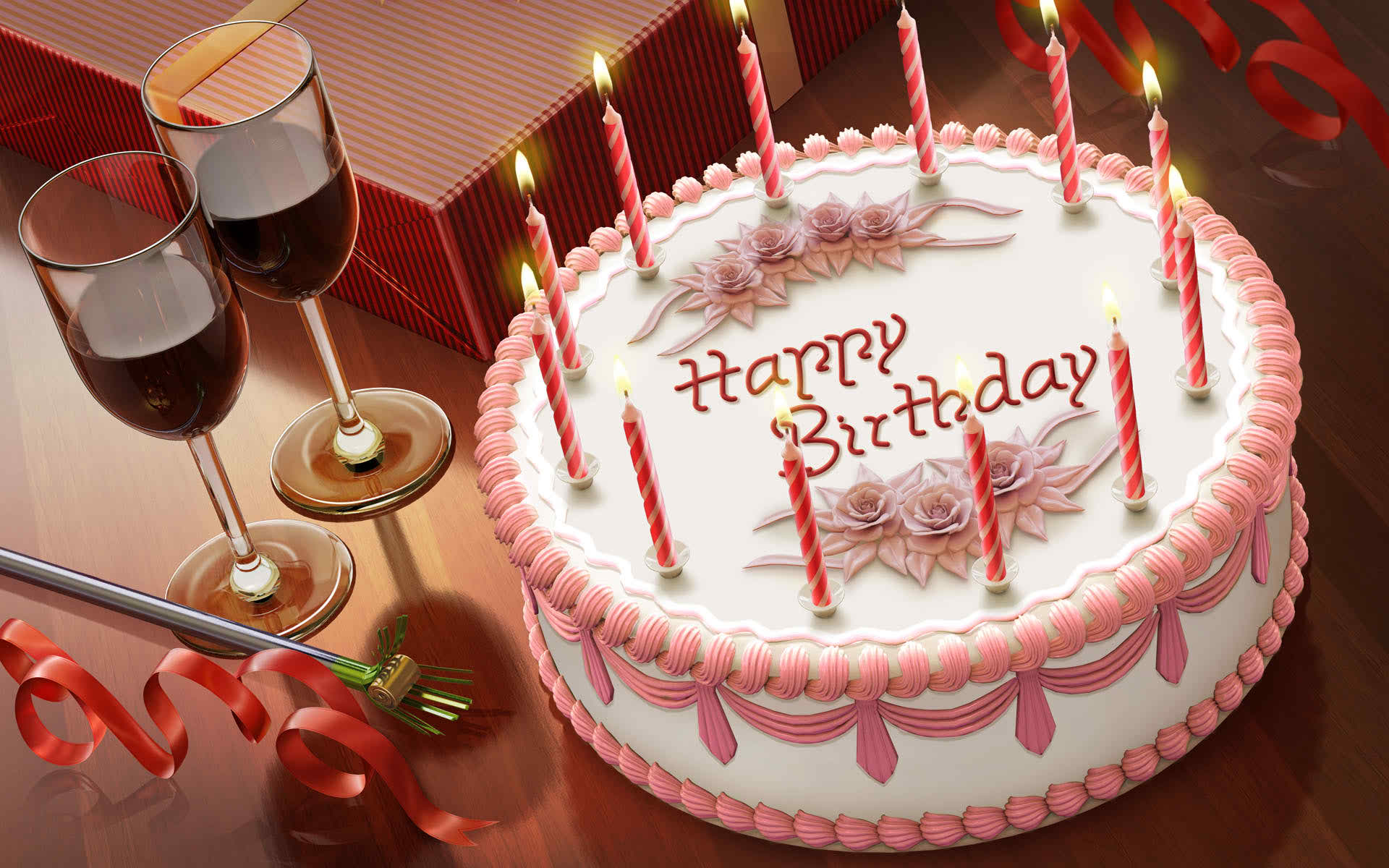 birthday cake with message picture ; Happy-Birthday-wishes-cake-with-candle