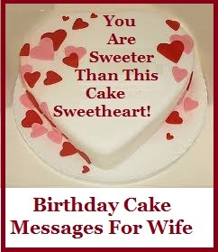 birthday cake with message picture ; WIFE%252BBIRTHDAY
