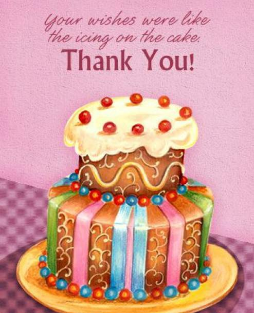 birthday cake with message picture ; thank-you-birthday-message1-e1436693470373