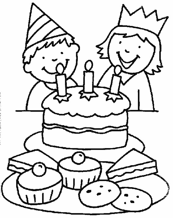 birthday cakes to colour in sheets ; Birthday-Cake-Coloring-Page-Printable