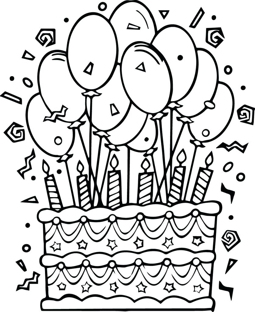 birthday cakes to colour in sheets ; birthday-girl-coloring-pages-cake-page-three-tier-for-kids-scout