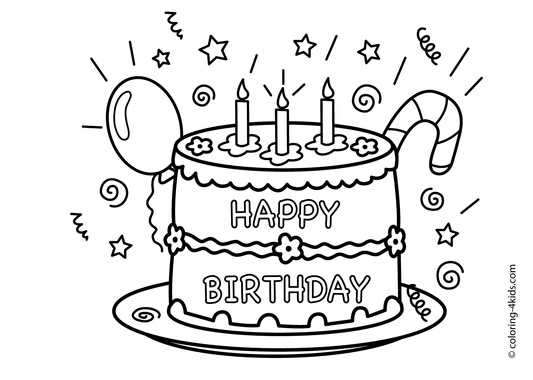 birthday cakes to colour in sheets ; cake-happy-birthday-party-coloring-pages--celebration-coloring
