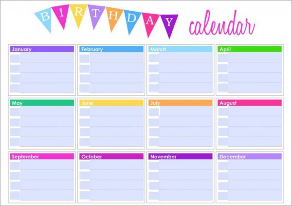 birthday calendar design templates ; Birthday-Template11