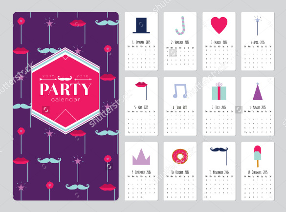 birthday calendar design templates ; Colorful-Birthday-Calendar-Template-Download