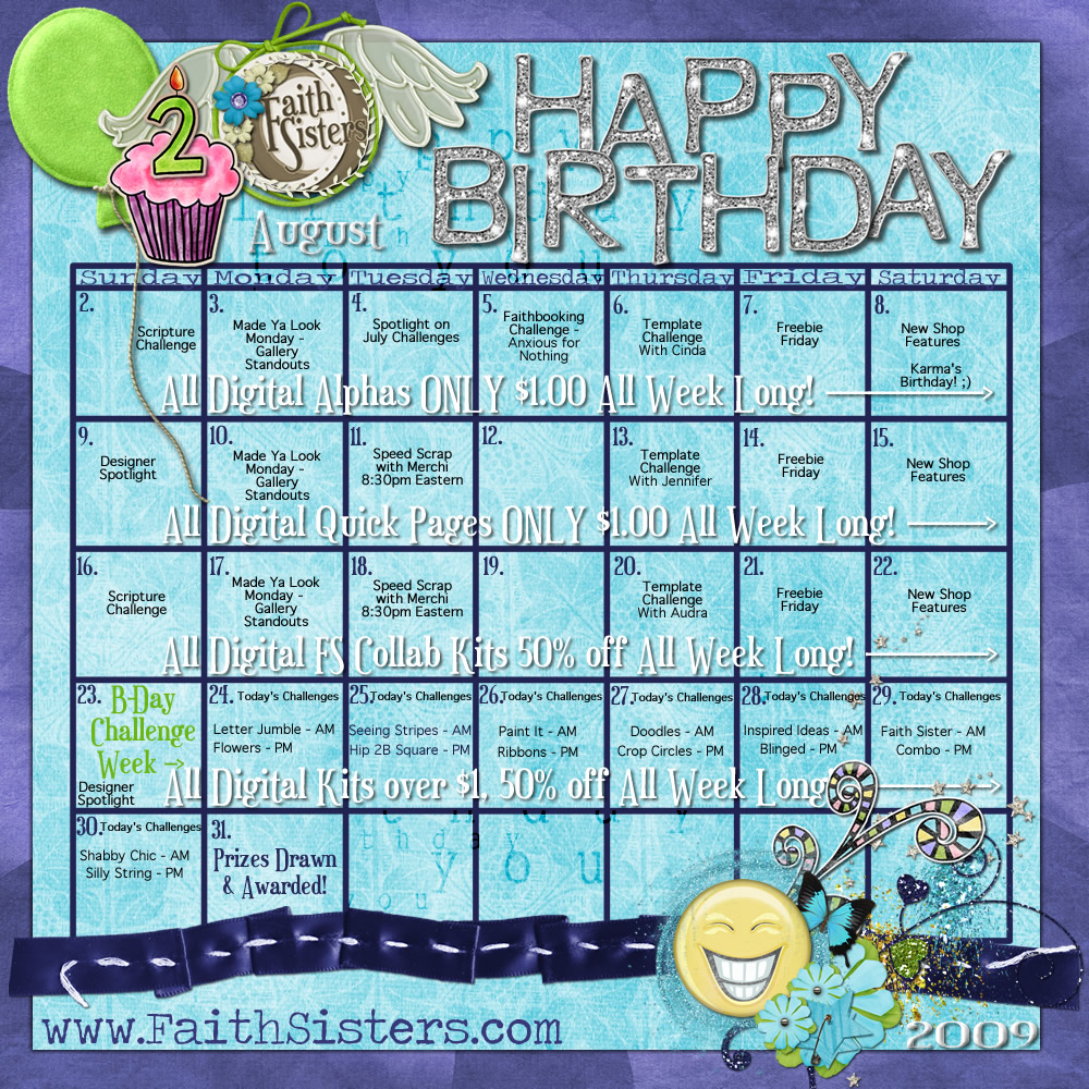 birthday calendar design templates ; FaithSisters_Happy2ndBirthday_calendar