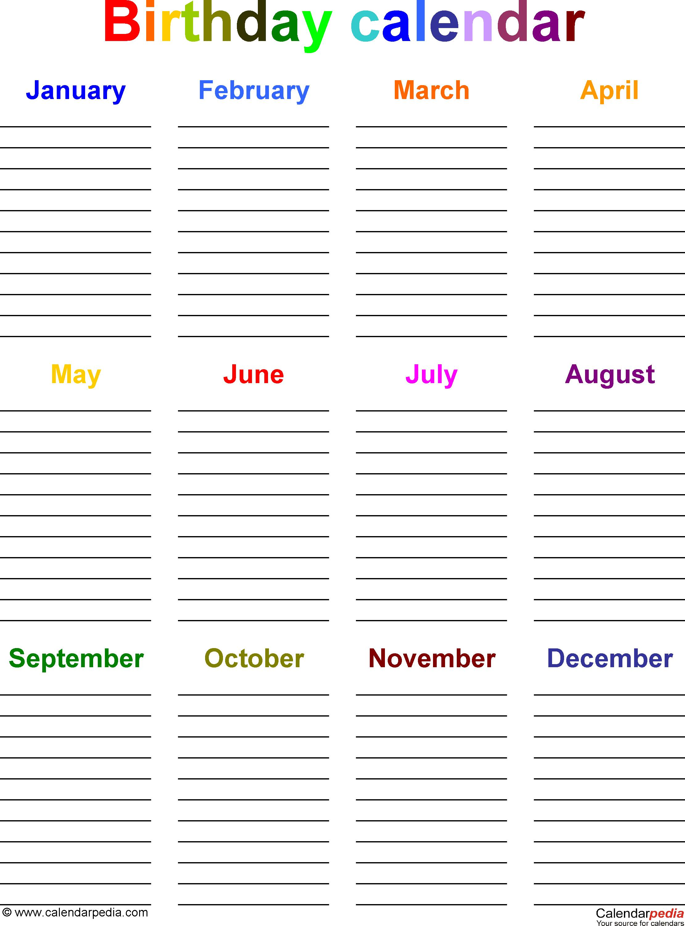 birthday calendar design templates ; birthday-calendar-p