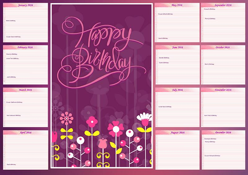 birthday calendar design templates ; birthday-calendar-poster-family-birthday-calendar-ideas-creative-photo-design-blog