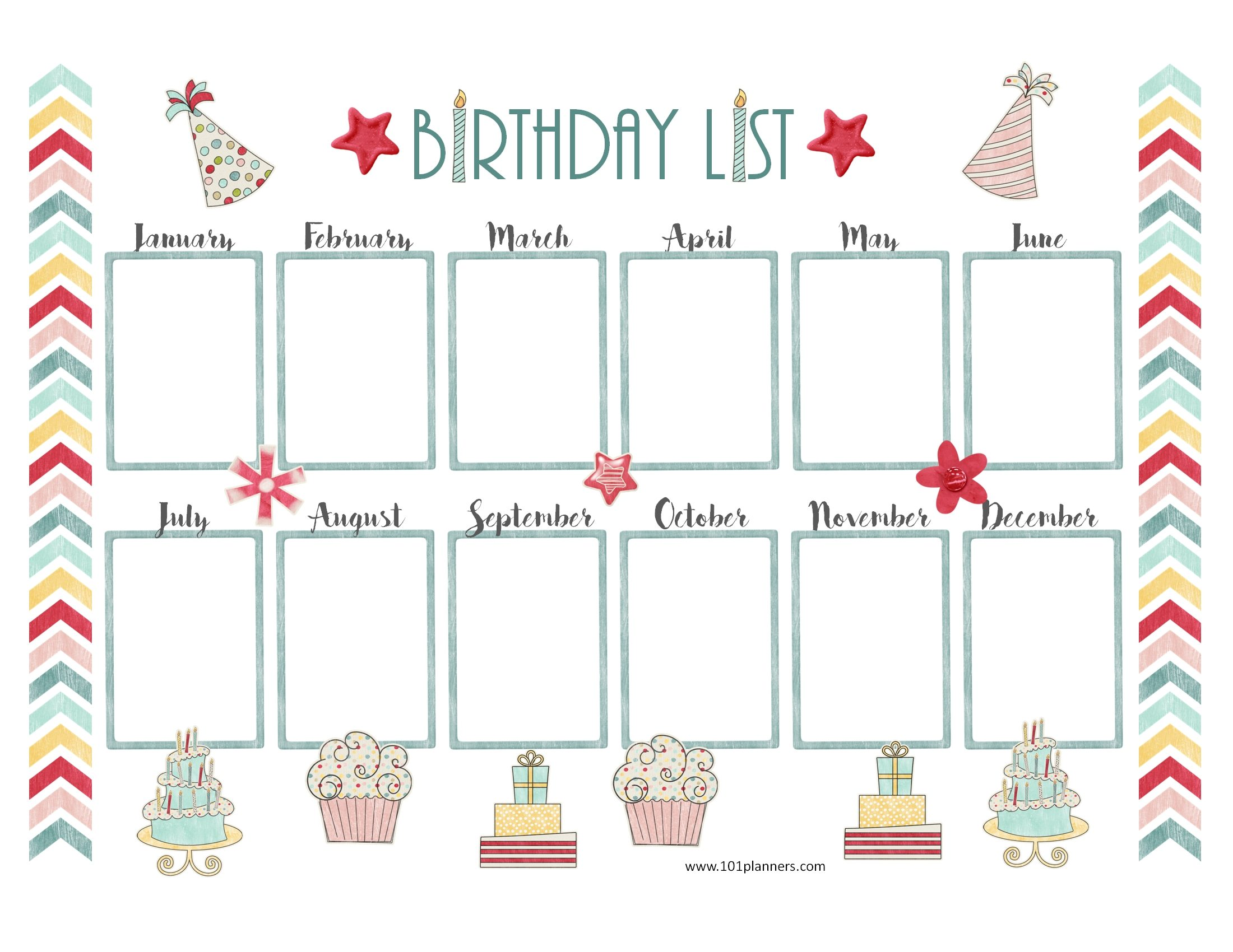 birthday calendar design templates ; birthday-calendar-template-2