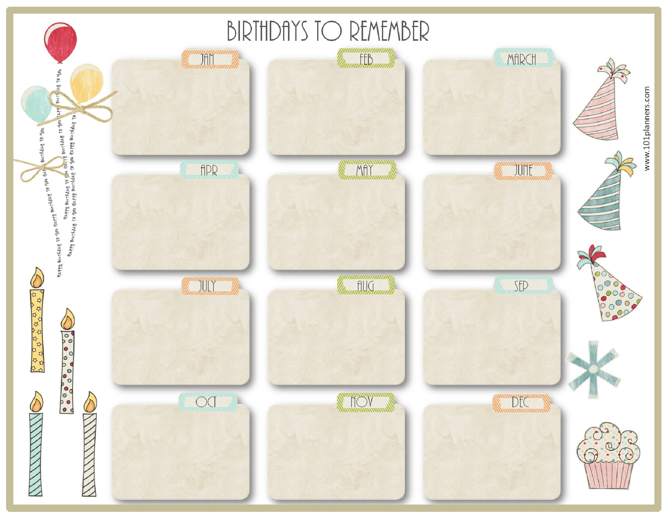 birthday calendar design templates ; birthday-calendar-template-7