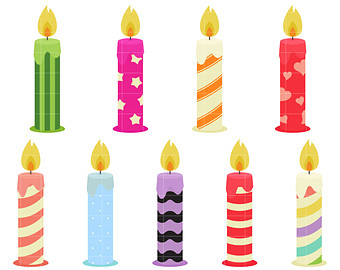 birthday candle clipart ; birthday-candles-clipart-19