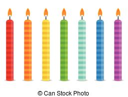 birthday candle clipart ; candle-clipart-row-5