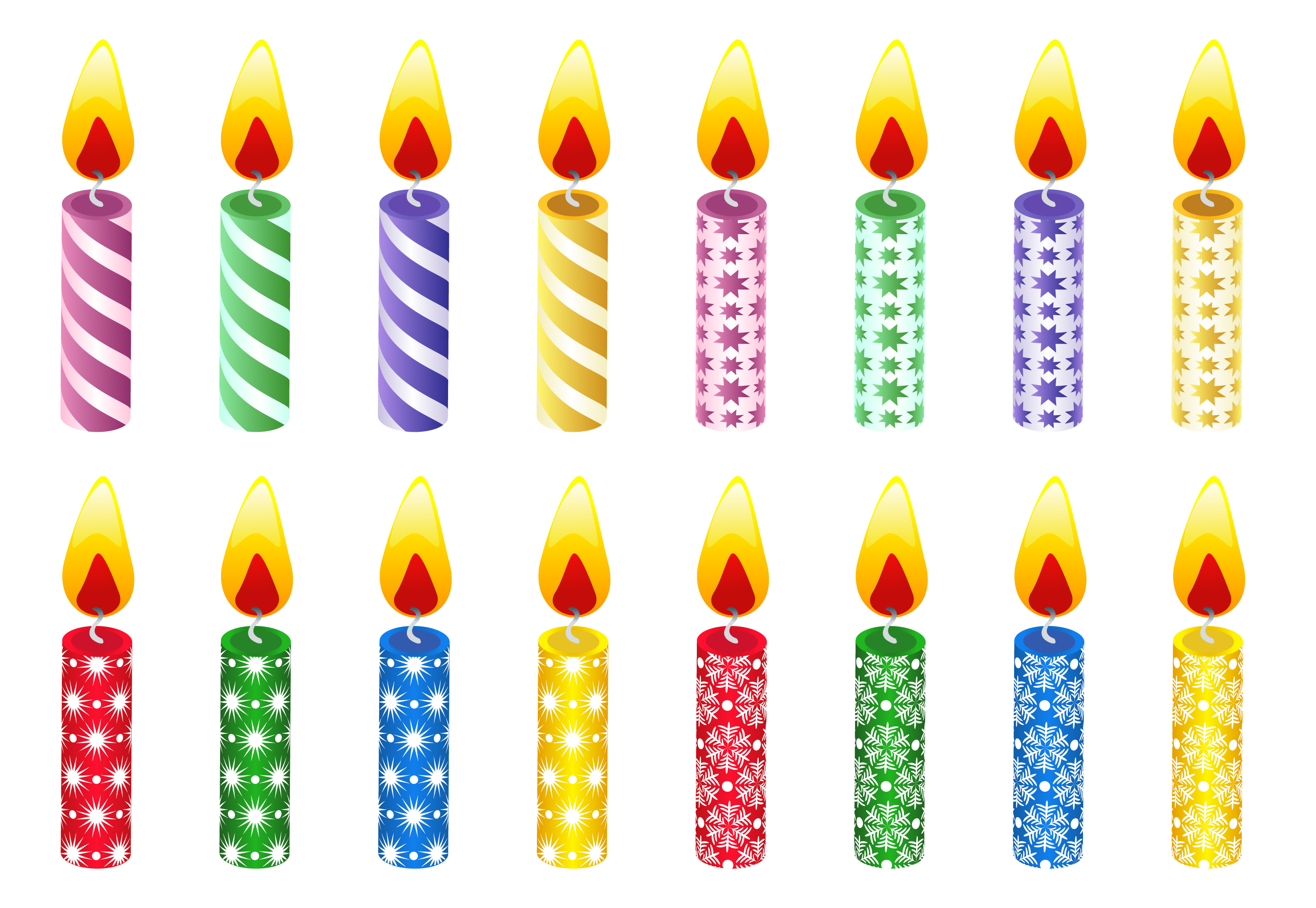 birthday candle clipart ; happy-birthday-candles-clipart-1