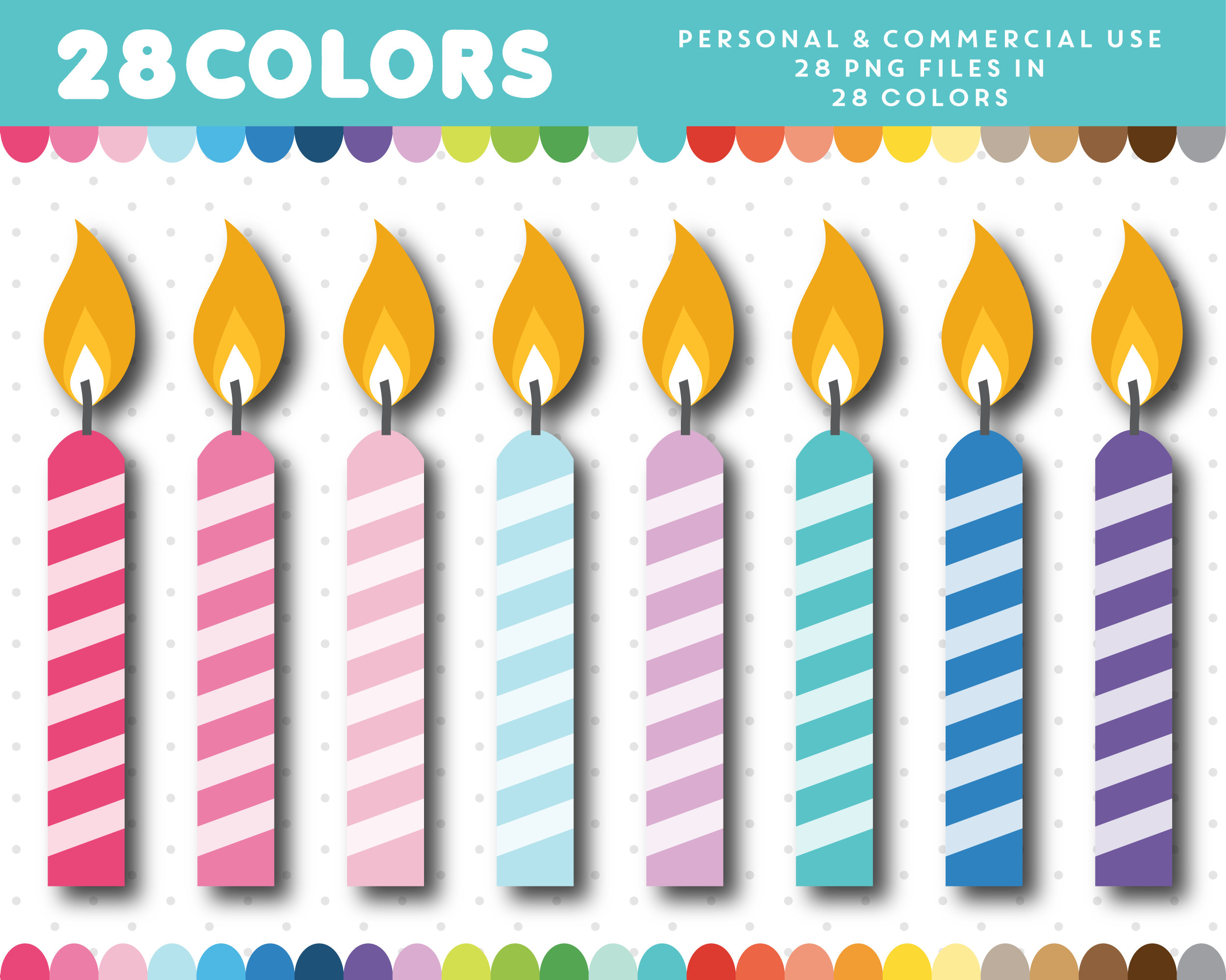 birthday candle clipart ; il_fullxfull