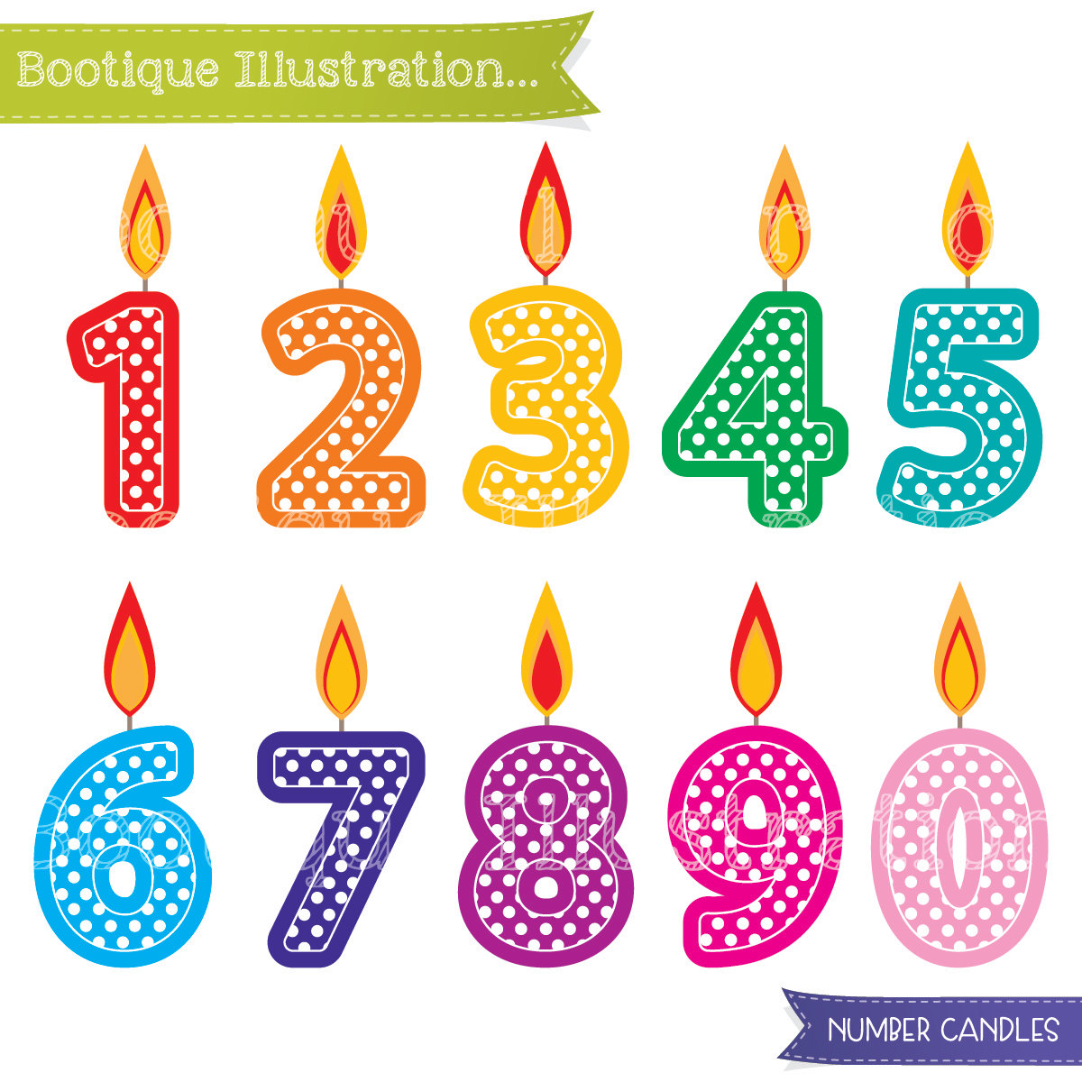 birthday candle clipart ; number-clipart-birthday-number-1