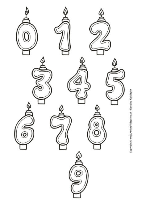 birthday candle coloring page ; 078a428d3b668b851ad0d73002dc48a2