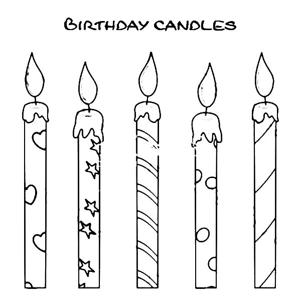 birthday candle coloring page ; How-to-Draw-Birthday-Candle-Coloring-Pages