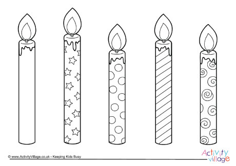 birthday candle coloring page ; birthday-candle-template-commonpence-co