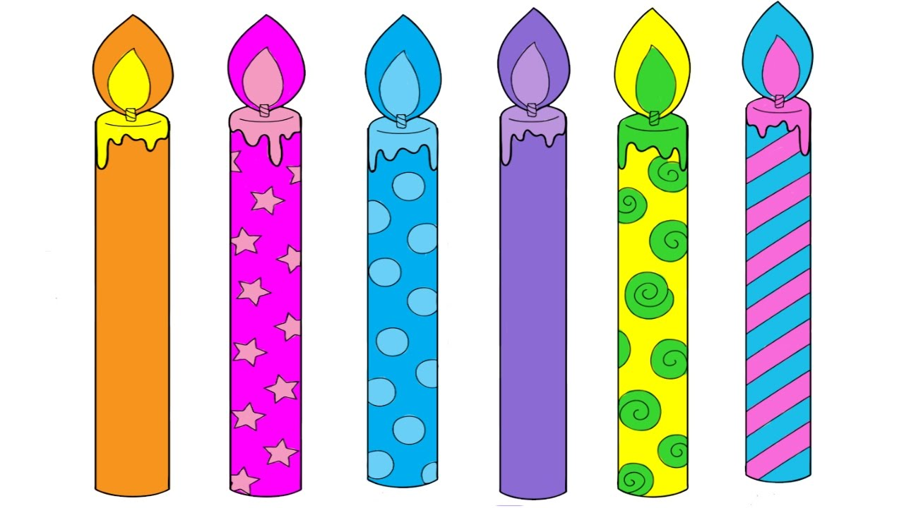 birthday candle coloring page ; maxresdefault