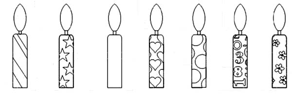 birthday candle coloring sheet ; Birthday-Candle-Coloring-Pages