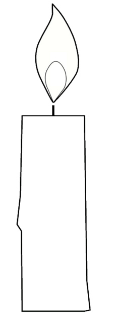 birthday candle drawing ; birthday-candle-outline-clipart-6