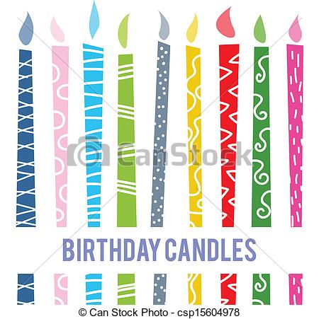 birthday candle drawing ; birthday-candles-image_csp15604978
