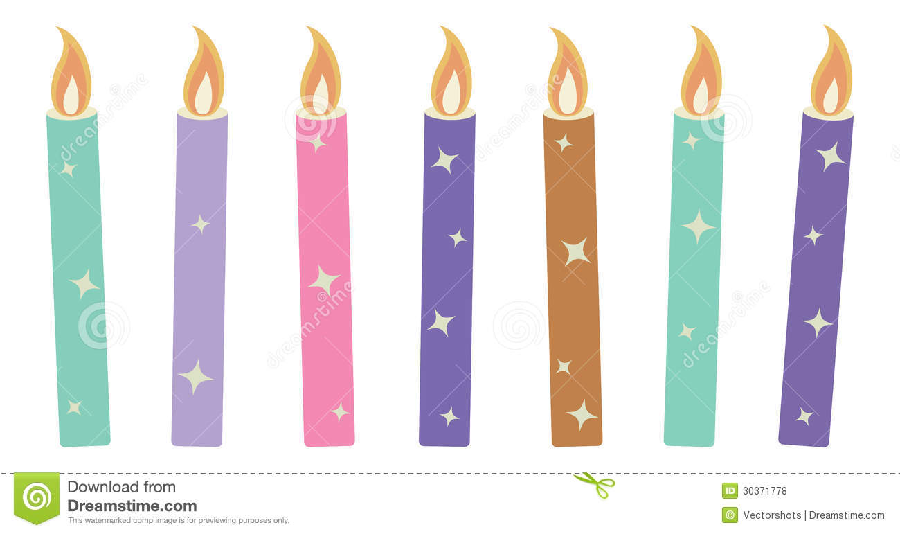 birthday candle drawing ; drawn-candle-birthday-candle-3