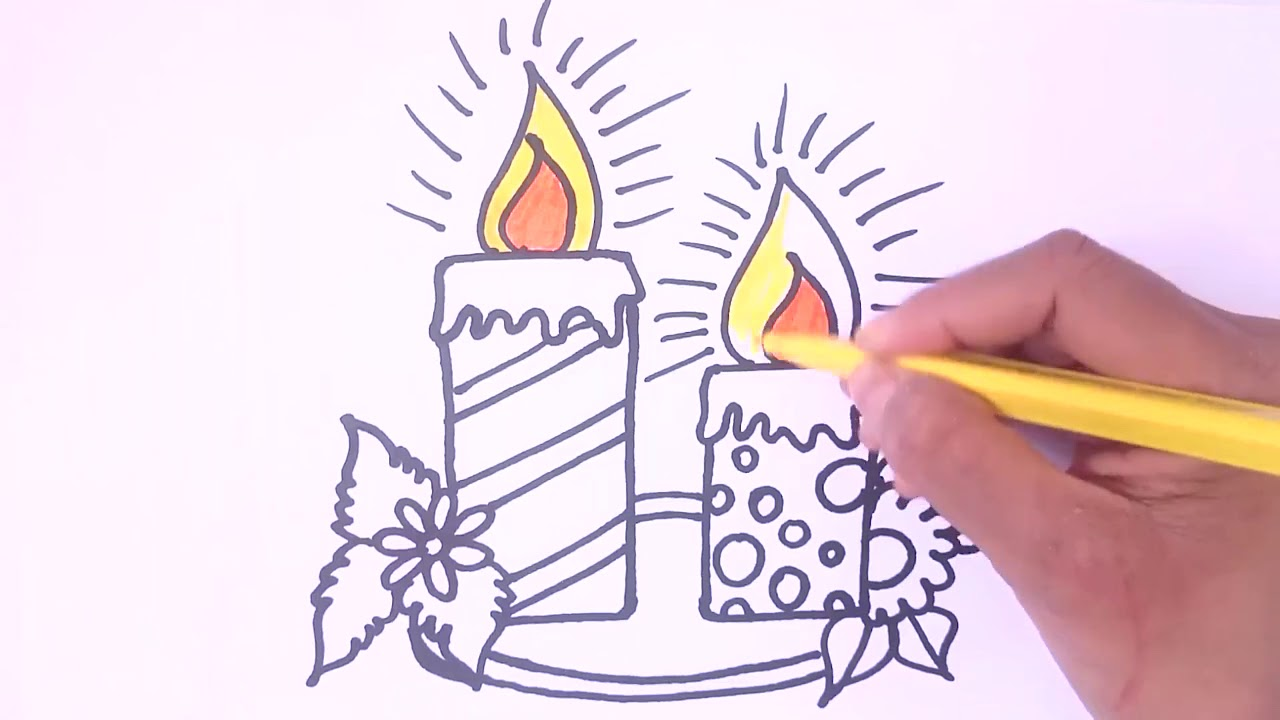 birthday candle drawing ; maxresdefault