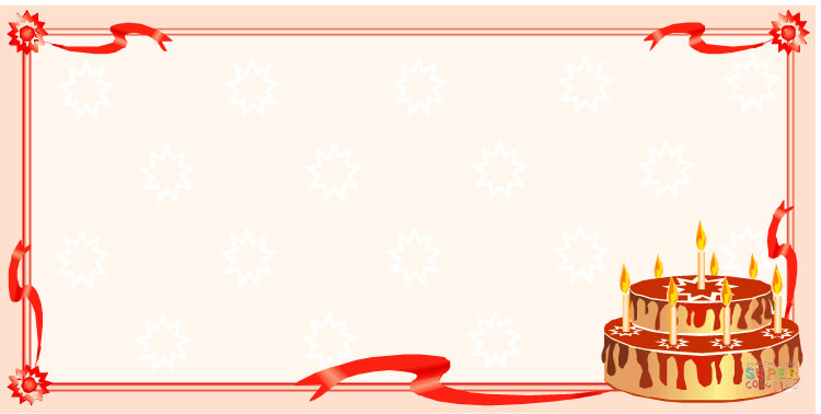 birthday card borders ; happy-birthday-card-coloring-page