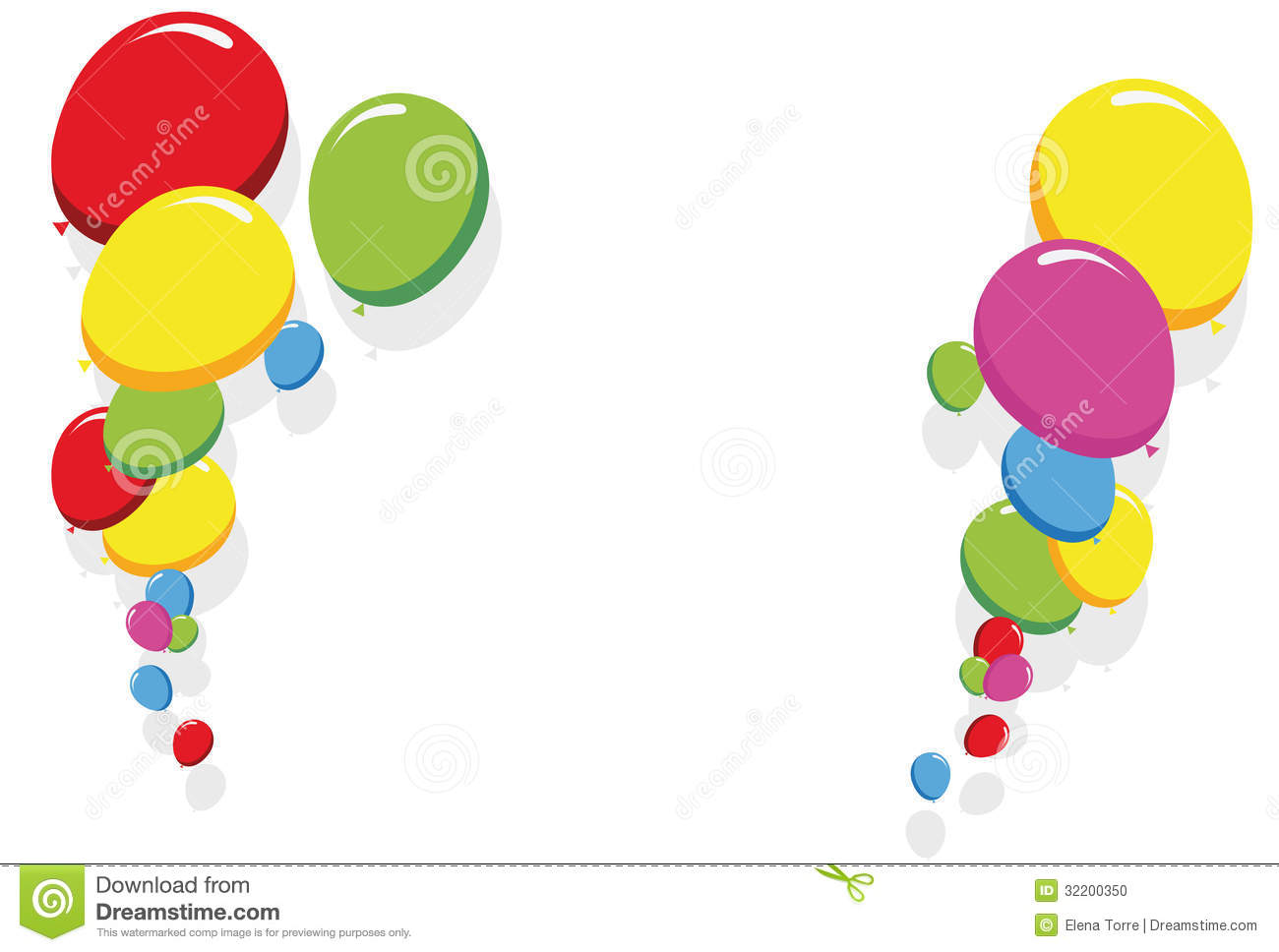birthday card borders free ; colorful-balloons-border-frame-illustration-birthday-party-cards-32200350