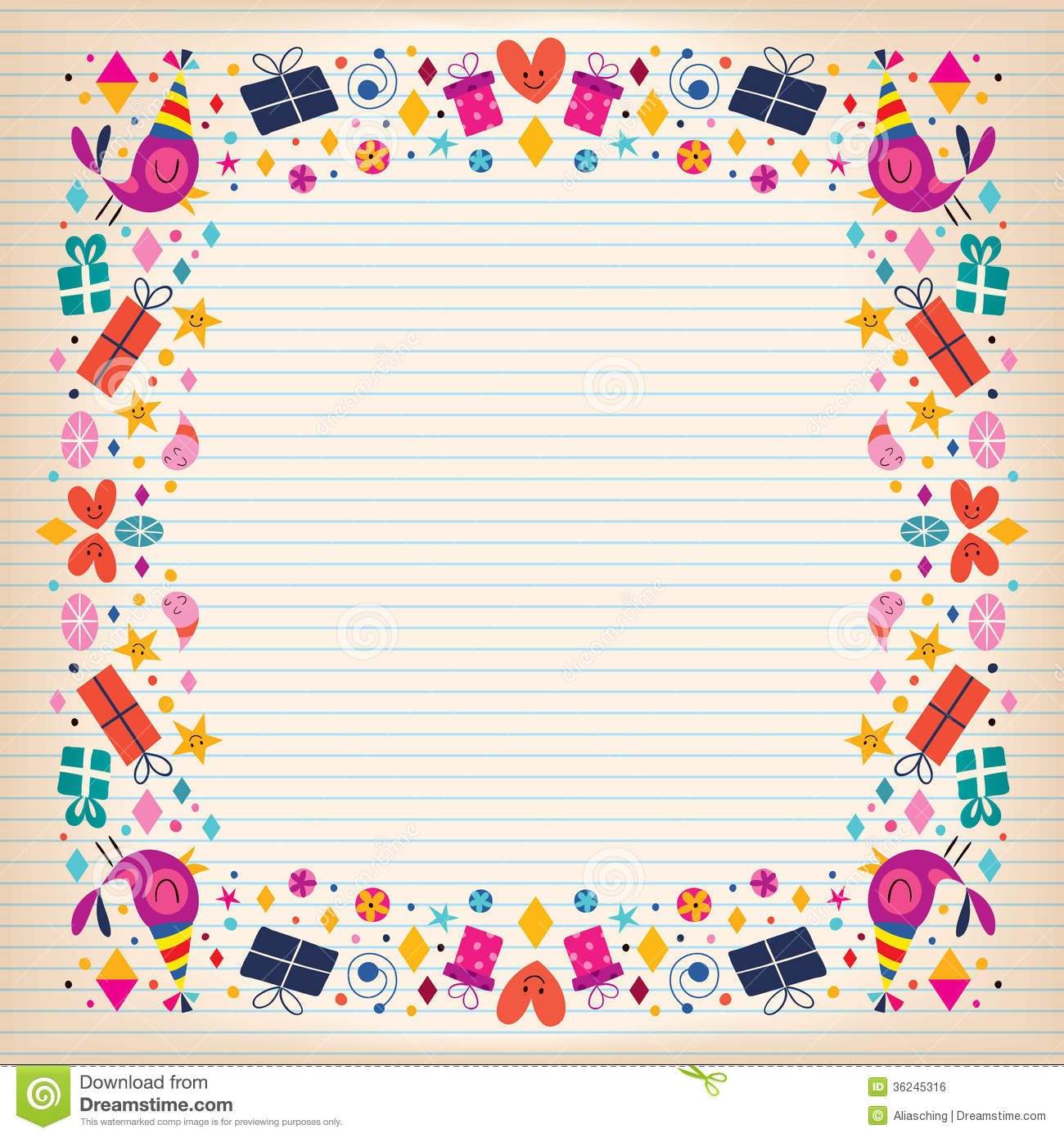 birthday card borders free ; happy-birthday-border-lined-paper-card-space-text-36245316