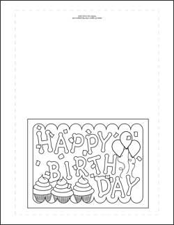 birthday card coloring page ; 31055f39e7cb10a8a5d041a80fe877c0