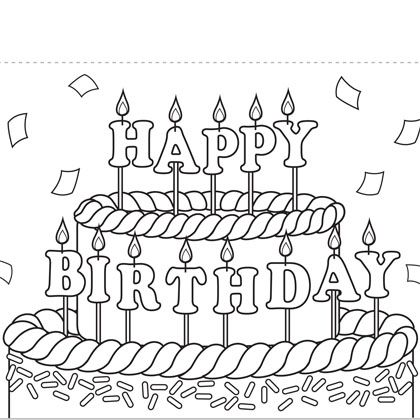 birthday card coloring page ; Lovely-Happy-Birthday-Card-Printable-Coloring-Pages-28-In-Oloring-Pages-Free-Printable-with-Happy-Birthday-Card-Printable-Coloring-Pages