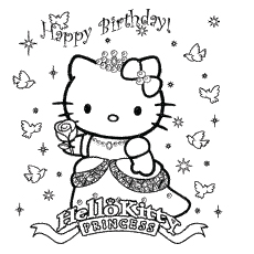 birthday card coloring sheet ; The-Colorful-Kitty-Birthday-Card