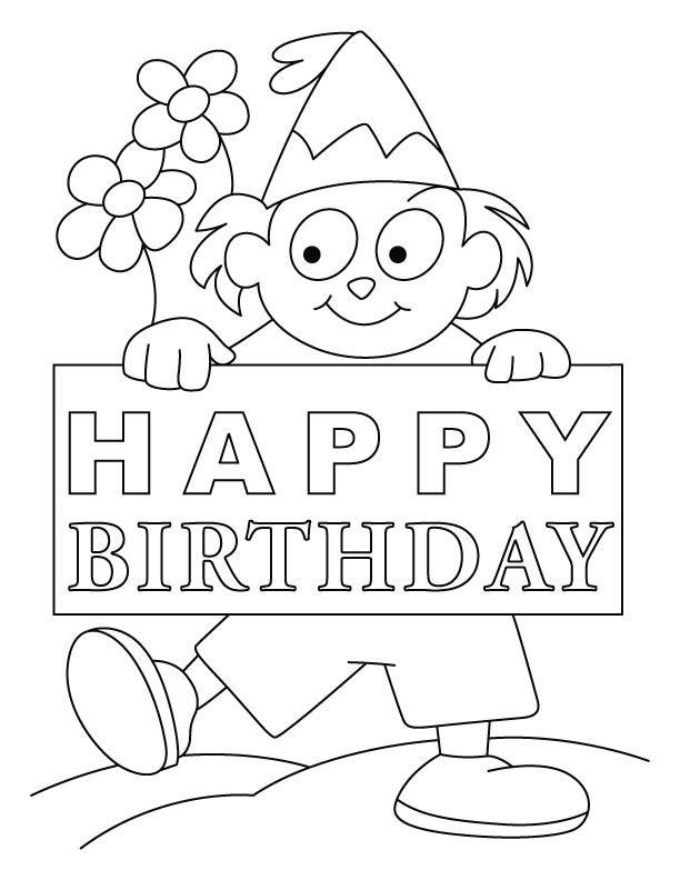 birthday card coloring sheet ; birthday-coloring-page19