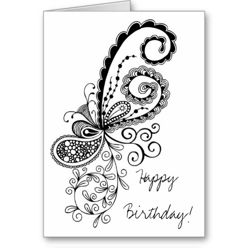 birthday card design drawing ; 9fac0dd83afc7b16596304e7778ccc96
