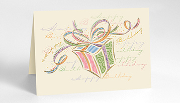 birthday card design drawing ; Birthday_Presents_Cards